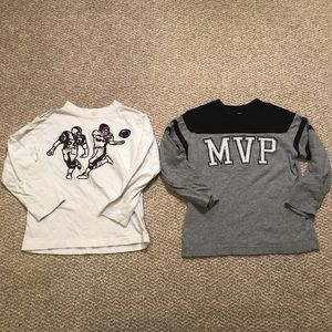 Football long sleeve tee bundle